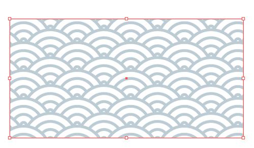 青海波紋パターン