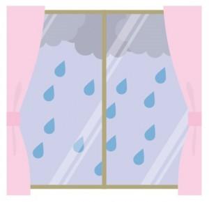 カーテン 雨