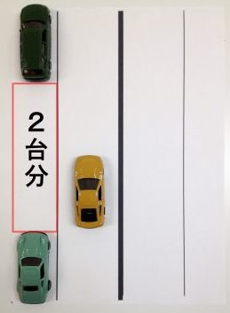縦列駐車2台分