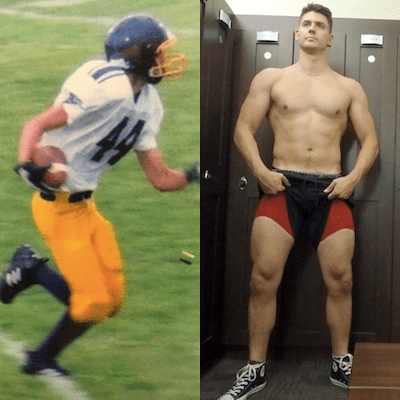 Skinny guy before and after