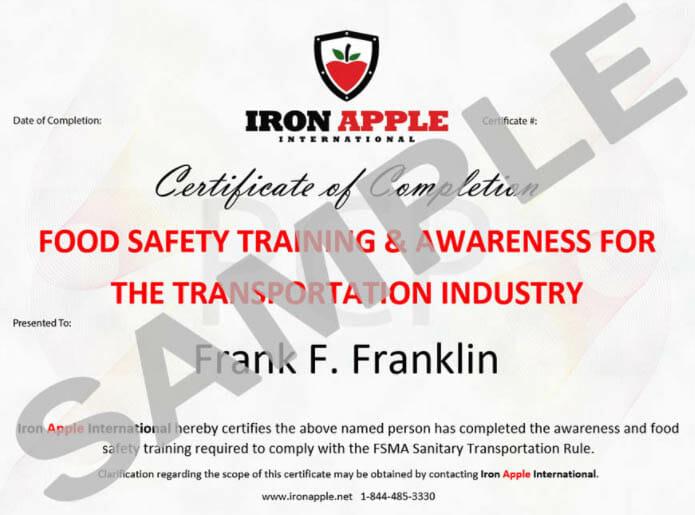 Iron Apple eClassroom - Digital Certificate Sample