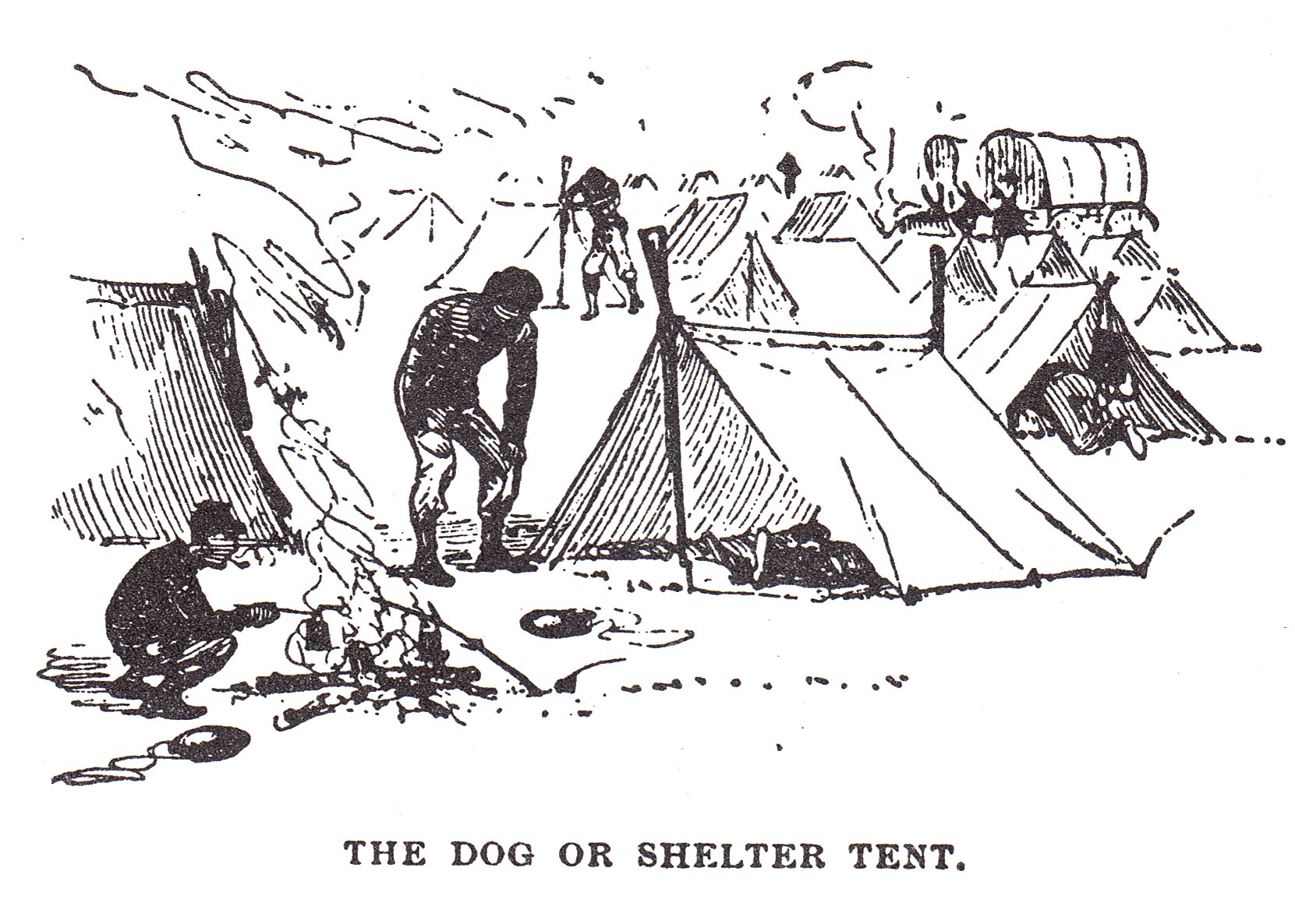 The Shelter Tent Was The Standard Issue Tent For Union
