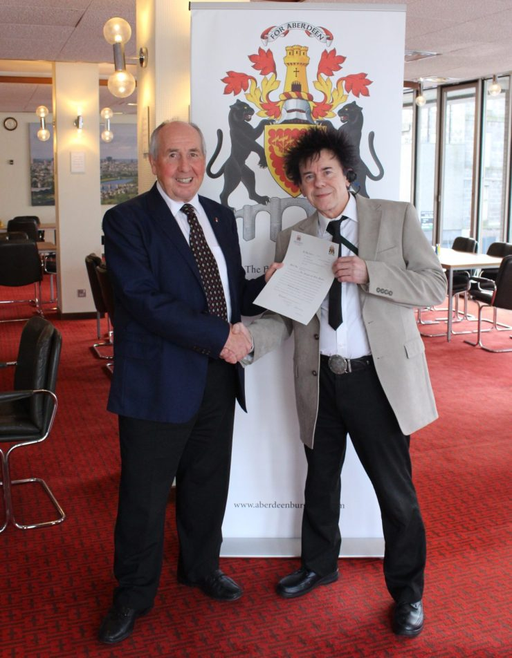 Fred with Colin Taylor, Lord Dean of Guild.