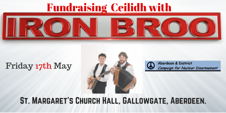 Ceilidh event poster 17th may 2019