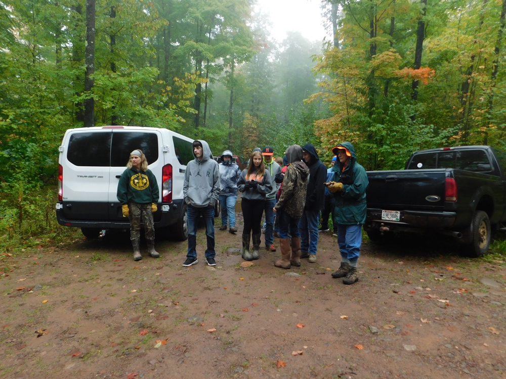 Hurley High School's field biology class took part in the trail work day