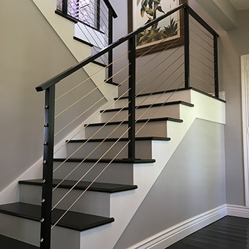 Cable Railings Custom Iron Works   Iron Works Spiral Stairs   Stair Railing   Stair Case   Stair Treads   Handrail   Wrought Iron