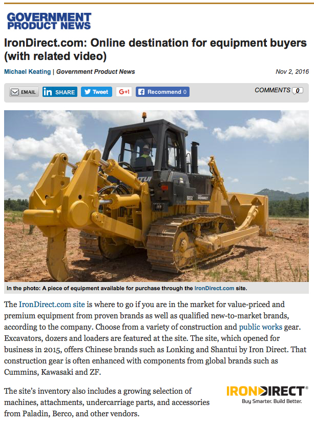 Government Product News ran a feature on IronDirect.