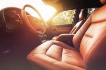 Premium car interior, brown leather
