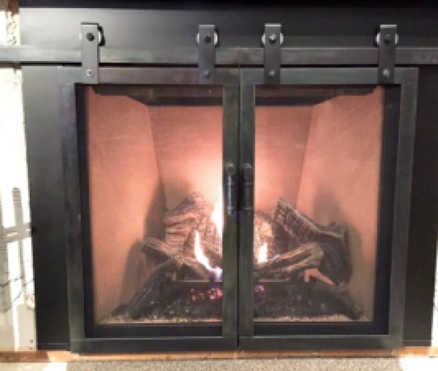 Sneak Peek Of The Latest Ironhaus Prototype A Barn Door Style Rh Ironhaus Com Fireplace Doors