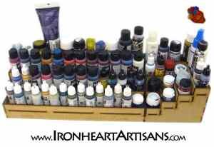 4 tier corner paint rack