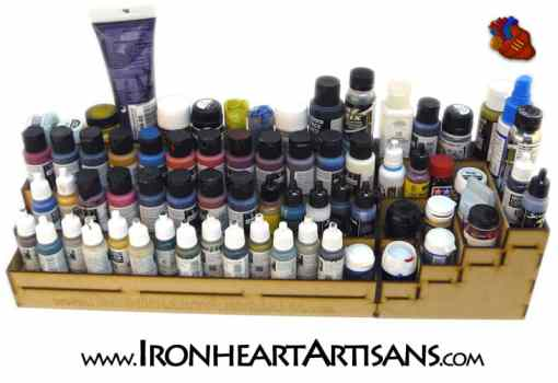 4 tier corner paint rack