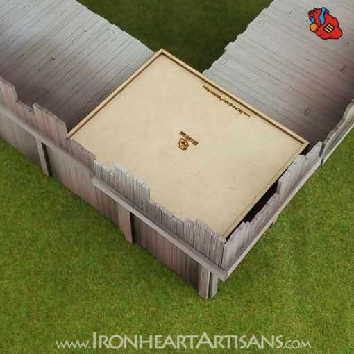 Modular Fort Corner for Kings of War