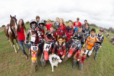 Group of motocross kids