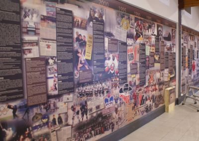 Wall Wrap: Centennial Civic Centre Hockey Mural