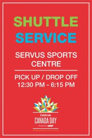 City of Lloydminster Canada Day 2017 Shuttle Service Sign