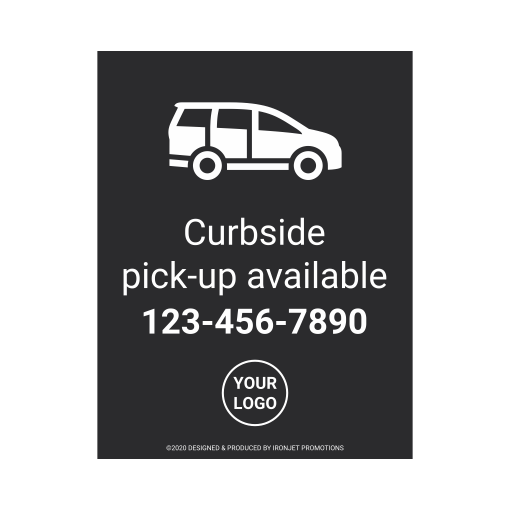 Ironjet COVID Decal Curbside Pick-up Available 510 px