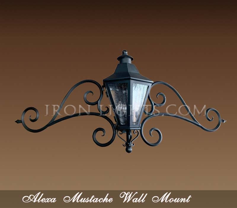 mediterranean mustache outdoor lights