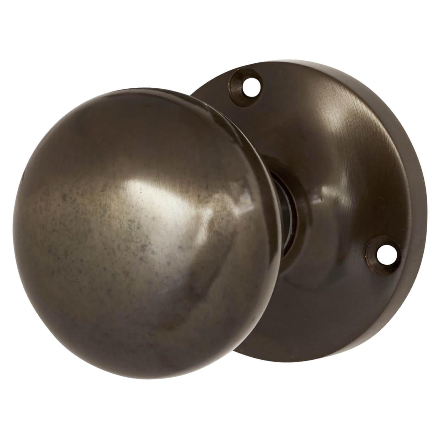 Jedo Mushroom Mortice Door Knob Dark Bronze