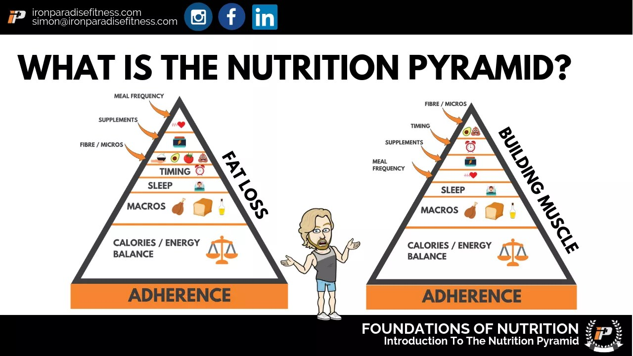 Is A Calorie Deficit All That Matters? Nutrition Pyramid Iron Paradise Fitness