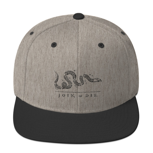 8a8c6c5ae Join or Die Revolutionary War Snapback Hat - Iron Pen Supply
