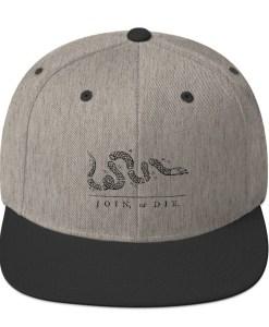 d78cfad05 Join or Die Revolutionary War Snapback Hat