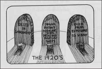 What do you suppose is in the tiny boxes beneath the headstones?