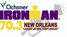 logo for Ironman 70.3 New Orleans