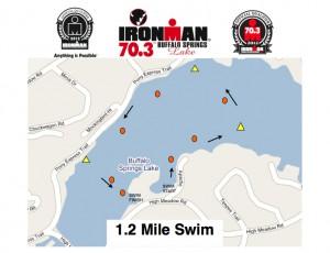 swim course map Ironman 70.3 buffalo springs results 2012