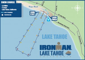 swim course map for Ironman Lake Tahoe