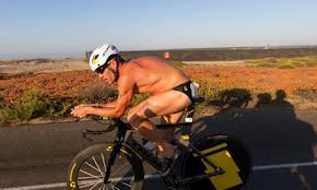 Lance in bike leg of superfrog triathlon