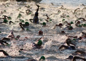 is the ironman triathlon swim hard