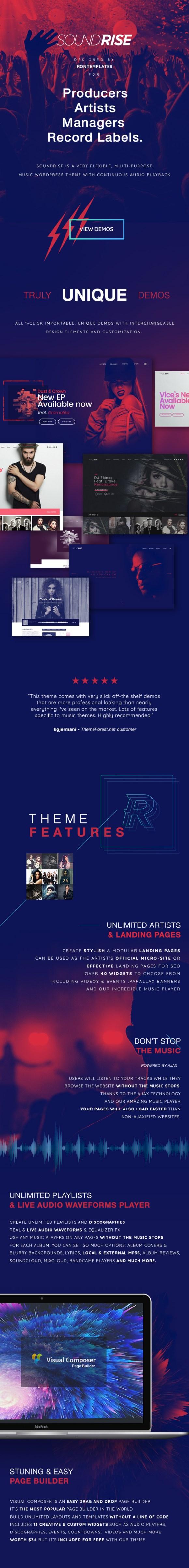 Soundrise - Responsive Music WordPress Theme
