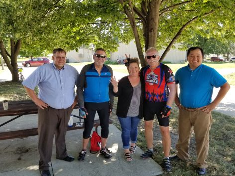 Marc Reich, Ironwood Capital Chairman and CEO, and friends at RAGBRAI