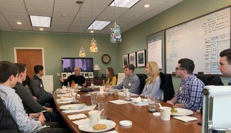 Marc Reich, Ironwood Capital, hosting the annual intern luncheon