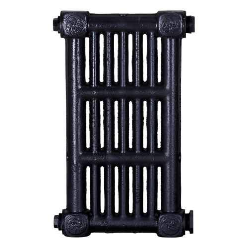 Ironworks Radiators Inc. refurbished cast iron radiator Davenport in Black