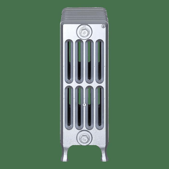 Ironworks Radiators Inc. refurbished cast iron radiator Rockford in Pewter metallic
