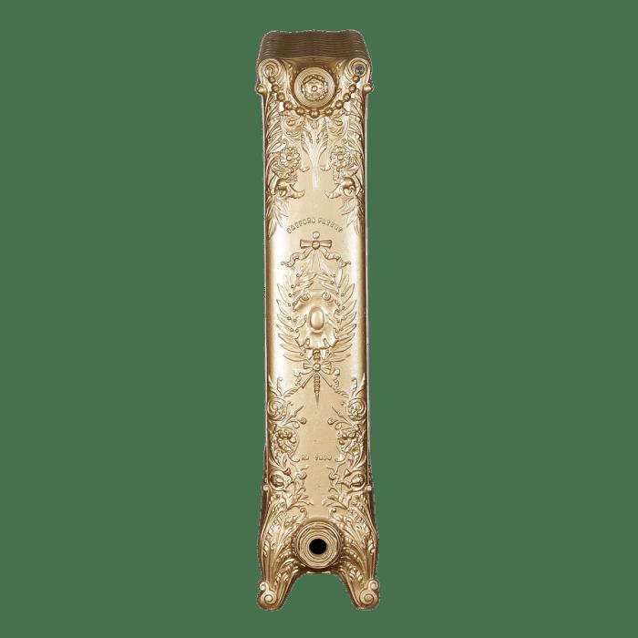 Ironworks Radiators Inc. refurbished cast iron radiator Glencairn in Gold Rush metallic