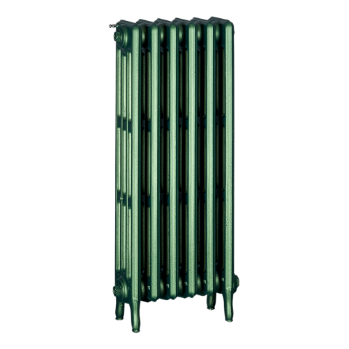 Ironworks Radiators Inc. refurbished cast iron radiator Havenlea in Hunter Green