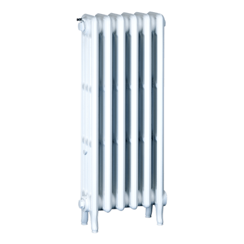 Ironworks Radiators Inc. refurbished cast iron radiator Scotchdale in White