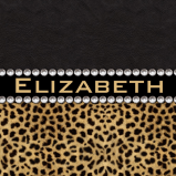 Leopard Spot Rhinestone Diamonds Personalized Monogram
