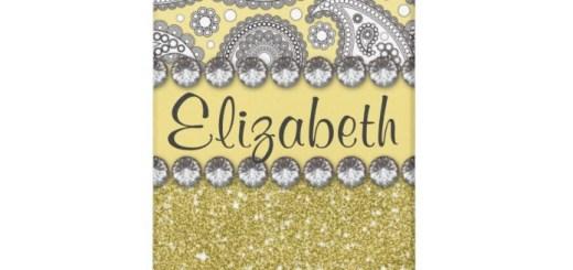 Personalized Glitter Paisley Rhinestone Gifts