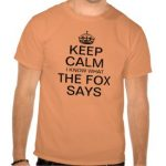 Keep Calm What Does The Fox Say Shirts