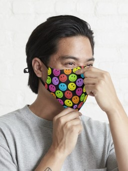 Happy Colorful Smiling Faces Face Mask Covering