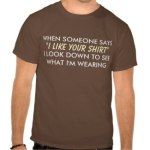 I Like Your Shirt Humor Saying Shirts
