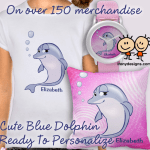 Cute Blue Dolphin Personalized Gifts