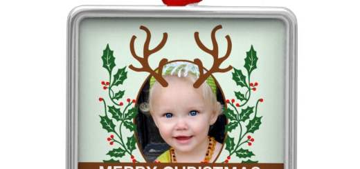 Christmas Reindeer Antlers Personalized custom Photograph kids keepsakes gift products. Add Your Own Image photo and replace the text.