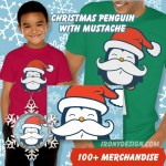 Christmas Penguin Mustache Merchandise