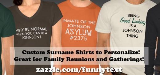 Custom Family Reunion Surname Shirts