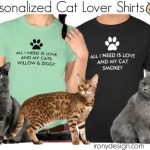 All I Need is Love and My Cat Shirts