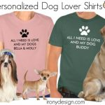 All I Need is Love Personalize Dog Name Shirts